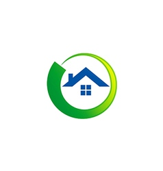 House realty abstract round logo vector