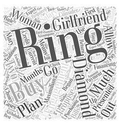 How to buy diamond engagement rings word cloud vector