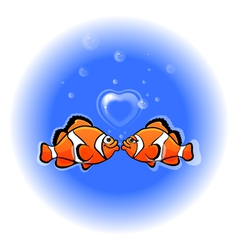 love funny fish vector image vector image