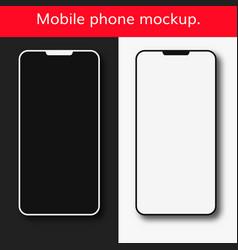 mobile phone mockup set vector image