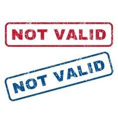 Not valid rubber stamps vector