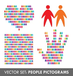 people pictograms vector image vector image