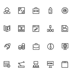 Productivity and development icons 4 vector