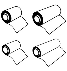 roll of any foil black symbols vector image vector image