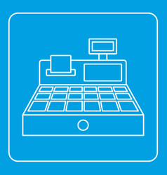 Sale cash register icon outline vector