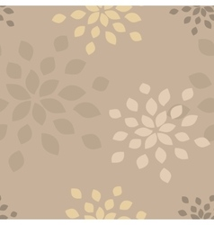 Stylized flower seamless pattern vector