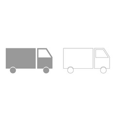 Truck the grey set icon vector