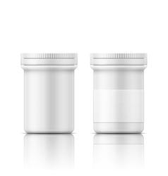 White plastic bottle for pills vector