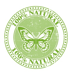 100 natural stamp vector image vector image