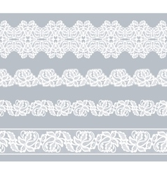 Set lace borders vector