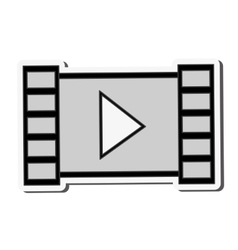 Film strip play video icon vector