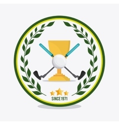 ball and clubs icon Golf sport design vector image