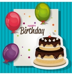 Happy birthday celebration card vector