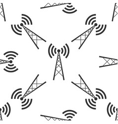 Antenna icon seamless pattern vector
