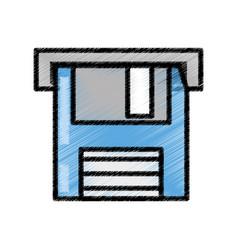 Floppy disk storage information sketch vector