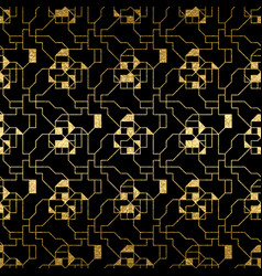 Abstract golden texture seamless pattern vector