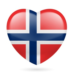 Heart icon of norway vector