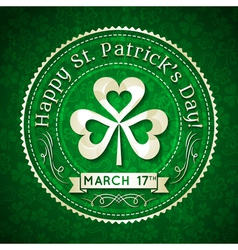 Card for st patricks day with text and shamrocki vector