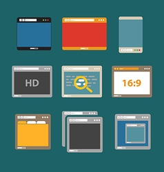 Web browsers flat design collection vector