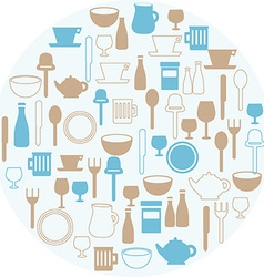Dining icons vector