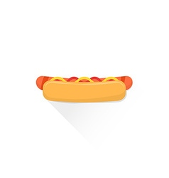 Color fast food hot dog icon vector