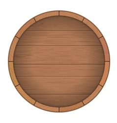 Round wooden barrel for wine vector image