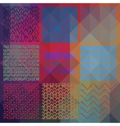 Abstract seamless patterns on triangular vector