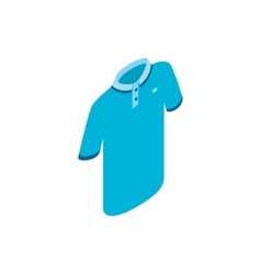 Blue men polo shirt icon isometric 3d style vector image
