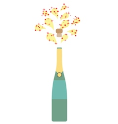 Bottle champagne vector