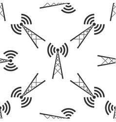 Antenna icon seamless pattern vector
