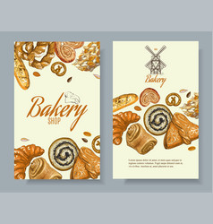 Bakery vertical banners vector