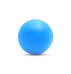 Blue ball Blue sphere vector image