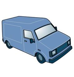 Blue van vector