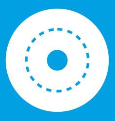 Circle road icon white vector