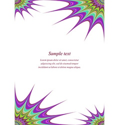 Color page corner design template vector image