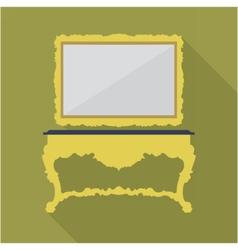 Digital green vintage table vector image