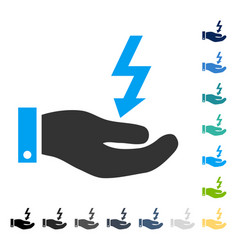 Electric energy service hand icon vector