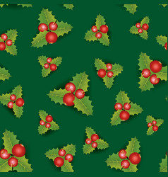 Floral seamless background christmas pattern with vector