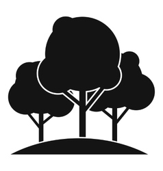 Forest trees icon simple style vector image vector image