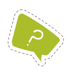 Green question mark bubble speech image vector