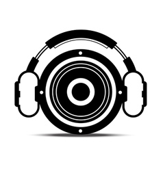 headphone and speaker vector image