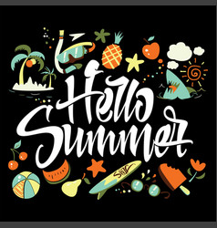 Hello summer to print t-shirts vector