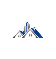 House realty building construction roof logo vector
