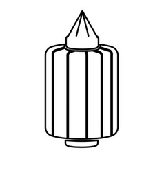 Japanese lantern decoration festive culture line vector