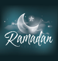 ramadan kareem greeting card design vector image