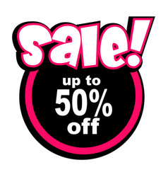 Sale text icon vector