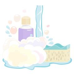 Shower gel set vector image