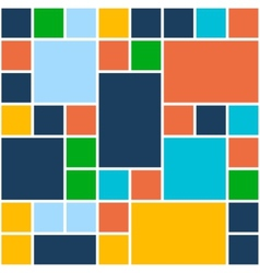 Squares Color Background Template for Flat Design vector image