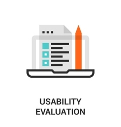 Usability evaluation icon vector