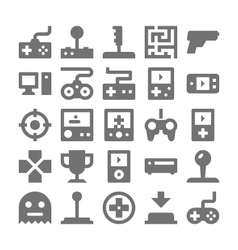 Video Game Icons 1 vector image